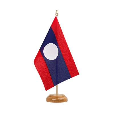 "Table Flag Laos - 6x9"" (15 x 22 cm), wooden"