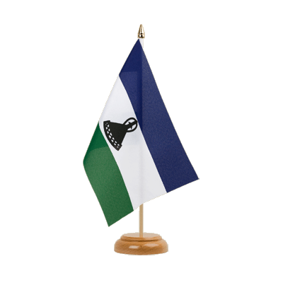 "Table Flag Lesotho new - 6x9"" (15 x 22 cm), wooden"