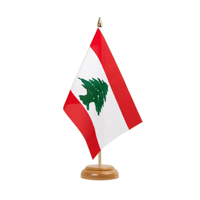 "Table Flag Lebanon - 6x9"" (15 x 22 cm), wooden"