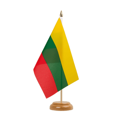 "Table Flag Lithuania - 6x9"" (15 x 22 cm), wooden"