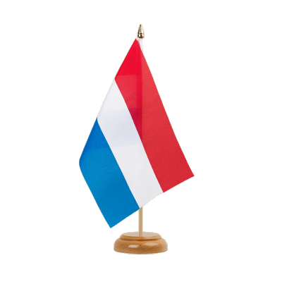 "Luxembourg Table Flag - 6x9"" (15 x 22 cm), wooden"