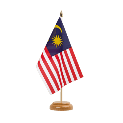 "Desk and Table Flag Malaysia - 6x9"" (15 x 22 cm), wooden"