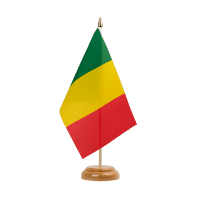 "Desk and Table Flag Mali - 6x9"" (15 x 22 cm), wooden"