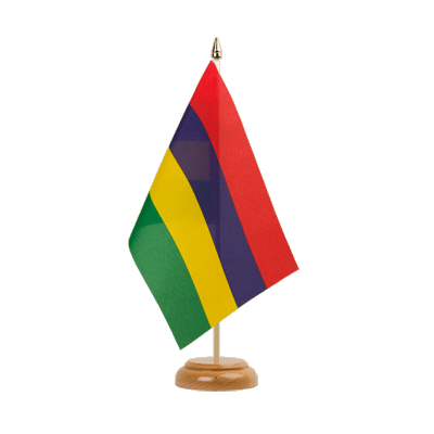 "Table Flag Mauritius - 6x9"" (15 x 22 cm), wooden"