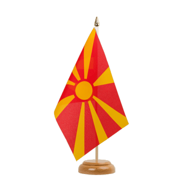 "Table Flag Macedonia - 6x9"" (15 x 22 cm), wooden"