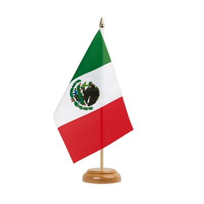 "Desk and Table Flag Mexico - 6x9"" (15 x 22 cm), wooden"