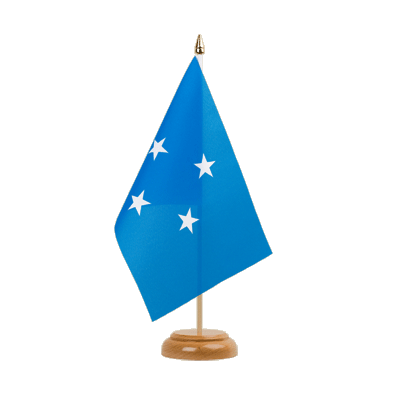 "Desk and Table Flag Micronesia - 6x9"" (15 x 22 cm), wooden"