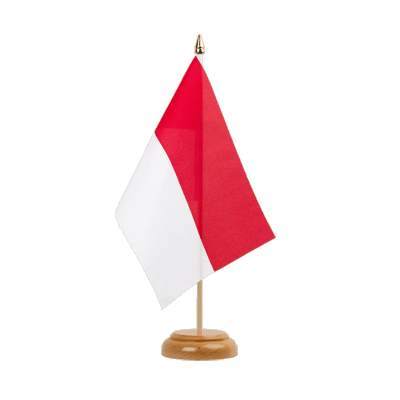 "Desk and Table Flag Monaco - 6x9"" (15 x 22 cm), wooden"