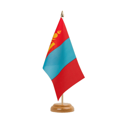 "Table Flag Mongolia - 6x9"" (15 x 22 cm), wooden"