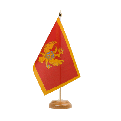 "Table Flag Montenegro - 6x9"" (15 x 22 cm), wooden"