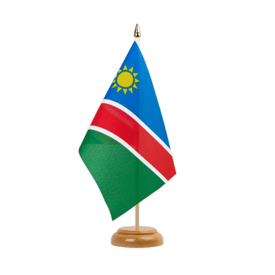 "Desk and Table Flag Namibia - 6x9"" (15 x 22 cm), wooden"