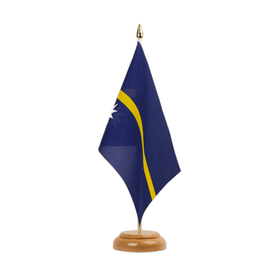 "Table Flag Nauru - 6x9"" (15 x 22 cm), wooden"