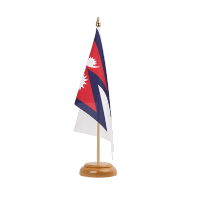 "Desk and Table Flag Nepal - 6x9"" (15 x 22 cm), wooden"