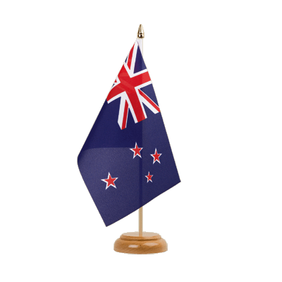 "Table Flag New Zealand - 6x9"" (15 x 22 cm), wooden"