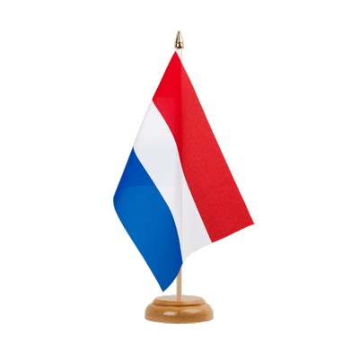 "Desk and Table Flag Netherlands - 6x9"" (15 x 22 cm), wooden"