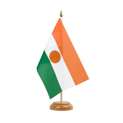 "Table Flag Niger - 6x9"" (15 x 22 cm), wooden"