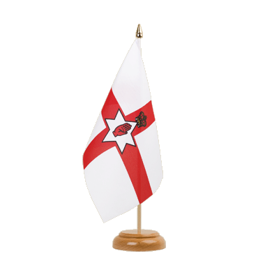 "Desk and Table Flag Northern Ireland - 6x9"" (15 x 22 cm), wooden"
