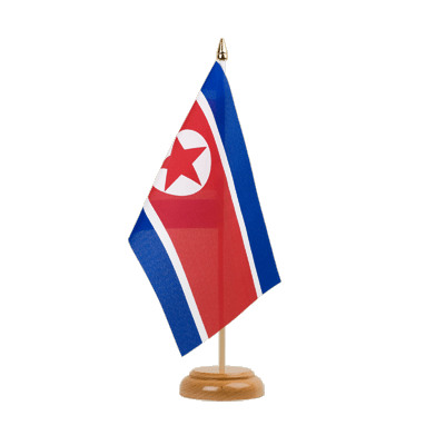 "Table Flag North corea - 6x9"" (15 x 22 cm), wooden"