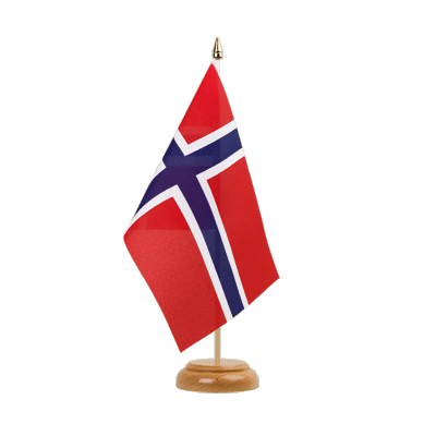 "Table Flag Norway - 6x9"" (15 x 22 cm), wooden"