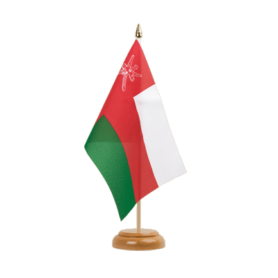 "Table Flag Oman - 6x9"" (15 x 22 cm), wooden"
