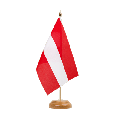 "Table Flag Austria - 6x9"" (15 x 22 cm), wooden"