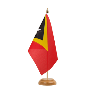 "Table Flag East Timor - 6x9"" (15 x 22 cm), wooden"
