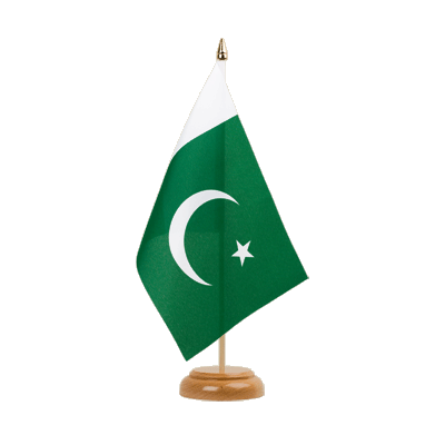 "Table Flag Pakistan - 6x9"" (15 x 22 cm), wooden"