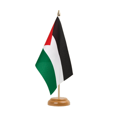 "Desk and Table Flag Palestine - 6x9"" (15 x 22 cm), wooden"
