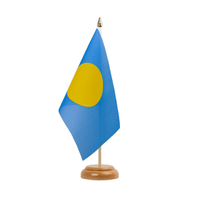 "Desk and Table Flag Palau - 6x9"" (15 x 22 cm), wooden"