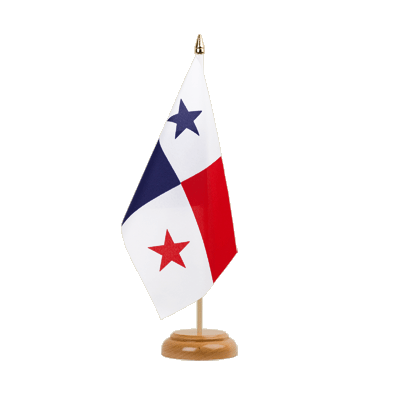 "Table Flag Panama - 6x9"" (15 x 22 cm), wooden"