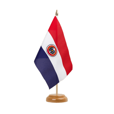 "Paraguay Table Flag 6x9"", wooden"