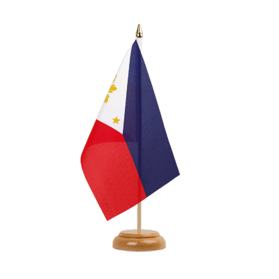 "Desk and Table Flag Philippines - 6x9"" (15 x 22 cm), wooden"