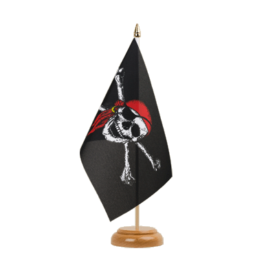 "Table Flag Pirate with bandana - 6x9"" (15 x 22 cm), wooden"