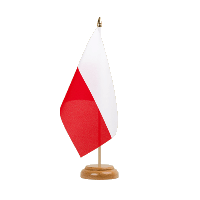 "Table Flag Poland - 6x9"" (15 x 22 cm), wooden"