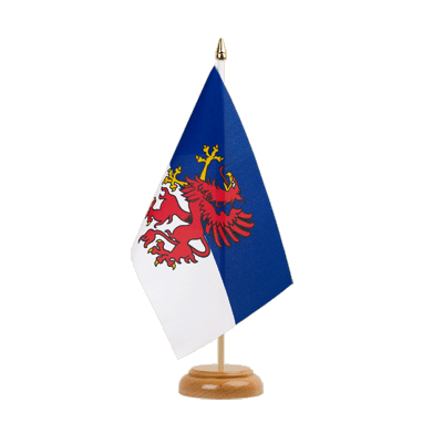 "Table Flag Pomerania - 6x9"" (15 x 22 cm), wooden"