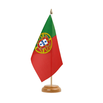 "Table Flag Portugal - 6x9"" (15 x 22 cm), wooden"