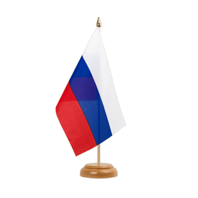 "Table Flag Russia - 6x9"" (15 x 22 cm), wooden"