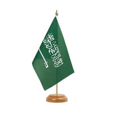 "Table Flag Saudi Arabia - 6x9"" (15 x 22 cm), wooden"