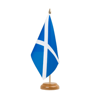 "Scotland Table Flag 6x9"", wooden"