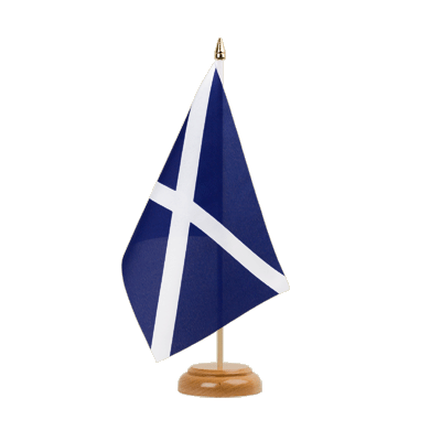 Drapeau de table Ecosse navy 15 x 22 cm, bois