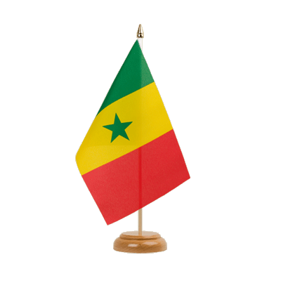 "Desk and Table Flag Senegal - 6x9"" (15 x 22 cm), wooden"