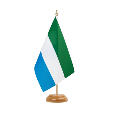 "Table Flag Sierra Leone - 6x9"" (15 x 22 cm), wooden"