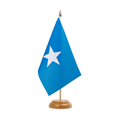 "Table Flag Somalia - 6x9"" (15 x 22 cm), wooden"