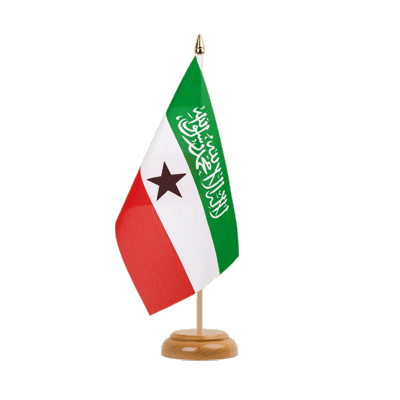 "Desk and Table Flag Somaliland - 6x9"" (15 x 22 cm), wooden"