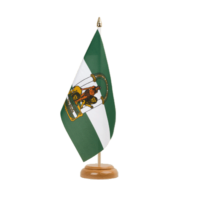 "Table Flag Andalusia - 6x9"" (15 x 22 cm), wooden"