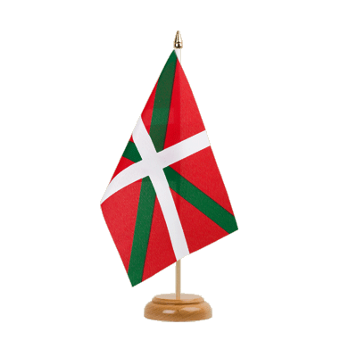 "Table Flag Basque country - 6x9"" (15 x 22 cm), wooden"