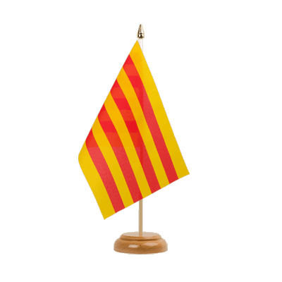 "Table Flag Catalonia - 6x9"" (15 x 22 cm), wooden"