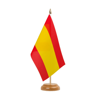 "Spain without crest Table Flag - 6x9"" (15 x 22 cm), wooden"