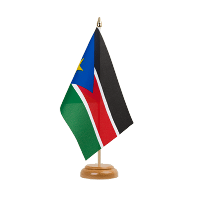 "Table Flag Southern Sudan - 6x9"" (15 x 22 cm), wooden"