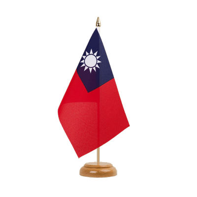"Table Flag Taiwan - 6x9"" (15 x 22 cm), wooden"